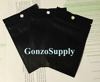 200pc 3x5 Double Sided Black Ziplock Mylar Bags-food Merchandise Storage