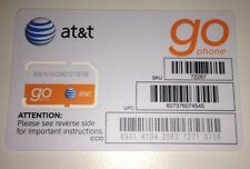NEW AT&T Sim Card For GO Phone Prepaid Service 3G Ready to Activate, SKU72287