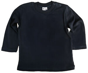 SALE-ITEM-5-pack-of-Baby-Long-Sleeve-Cotton-Tops-in-Black-Size-6-12-Months