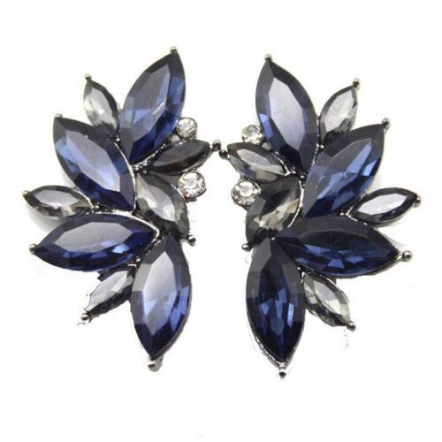 1 Paire Femme Fashion Aile de Papillon Fleur Cristal Strass Ear Stud Boucles d/'oreilles
