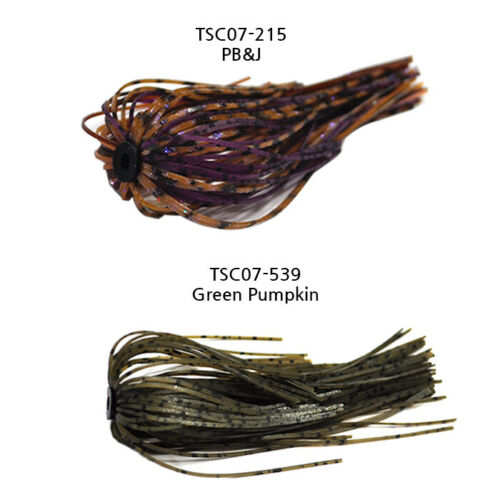 TSC07 Scolpion Jig Skirt Hole in One Skirts Rubber Jig -3EA//1PK