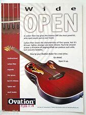 """Affichette OVATION """"Wide Open"""" guitare acoustique"""