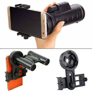 Universal Telescope Microscope Cell Phone Mount Holder Adapter Interface Bracket
