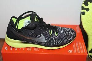 Details zu Nike WMNS Free 5.0 Damen Sport Lauf Running Schuh Schwarz Gelb Größe 37,5