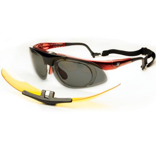 Daisan Fahrradbrille Sportbrille für Brillenträger mit Optik-Clip hochklappbar