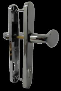 Front Door Handles >> Details About Stainless Chrome Pad Lever Inline Upvc Front Door Handles Pz92 210mm Fixings