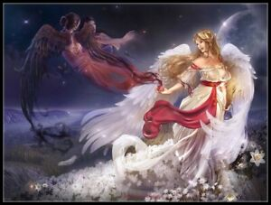 Flying-Angels-Chart-Counted-Cross-Stitch-Pattern-Needlework-Xstitch-craft-DIY