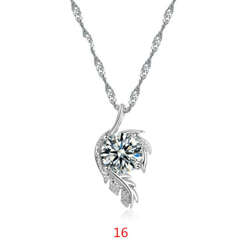 Cute Pendant Necklaces+Chain CZ Crystal Cubic Zircon Gift Jewelry For Women Girl