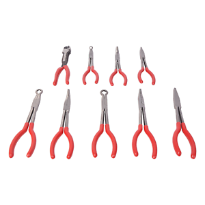 "9 pc 11/"" Long Nose Plier Set Long Reach Circle Bent Needle Nose Diagonal Cutter"