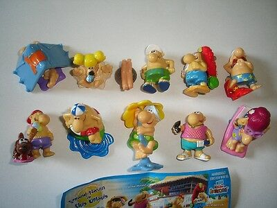 KINDER SURPRISE SET - STRANDNASEN BEACH GUYS 2007 - FIGURES COLLECTIBLES