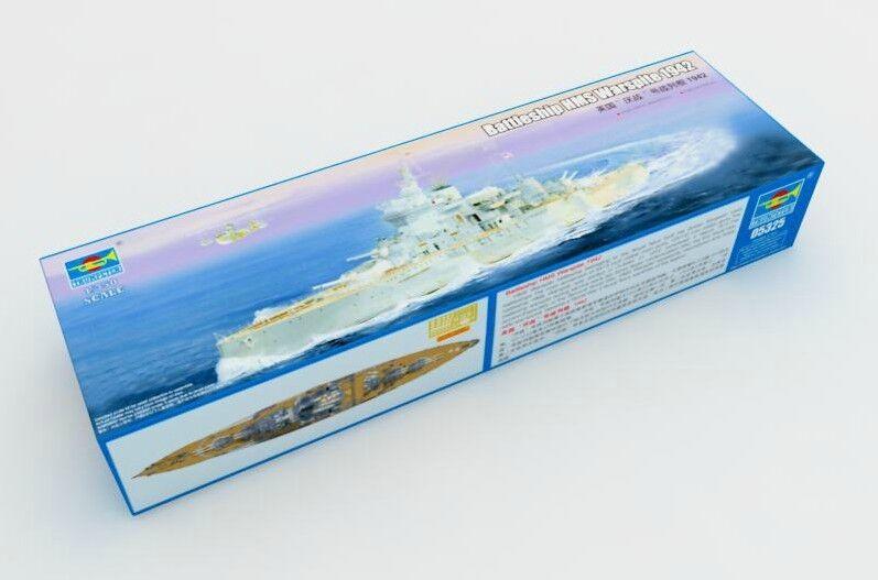 Trumpeter 05325 1 350 HMS Warspite 1942 Battleship Plastic Warship Model Kit