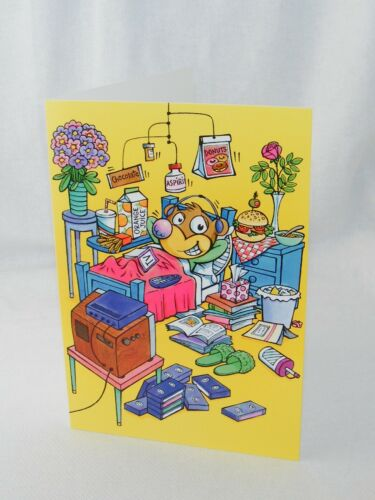 Note Card /& Envelope of Choice Hallmark .. PVA Current Get Well Greeting