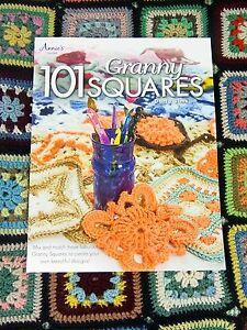 CROCHET-PATTERN-BOOK-101-Granny-Squares-Yarn-Wool-Craft-Darla-Sims