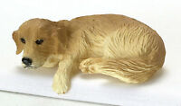 Dollhouse Miniature Dog Golden Retriever Laying Falcon Minis 1:12 Scale