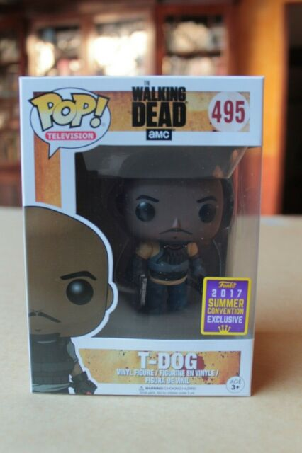 T-Dog SDCC 2017 Exclusive Vynil Figure 10cm n°495 FUNKO The Walking Dead Pop
