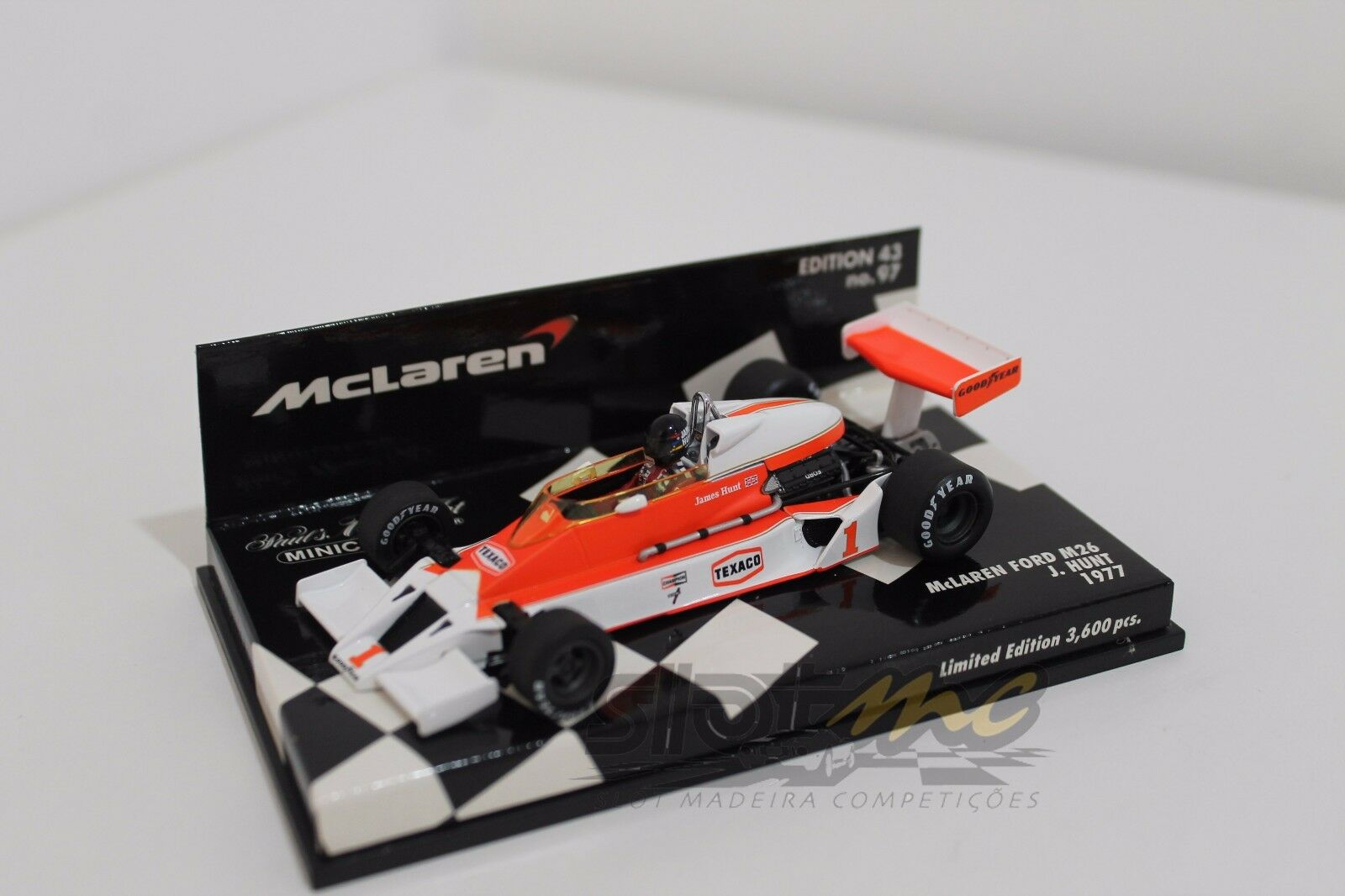 Minichamps 530774301 McLaren Ford M26 J. HUNT 1977   NEW