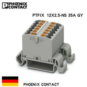 2-PCS-Phoenix-Contact-PTFIX-12X2-5-NS35A-GY-Power-Distribution-Block-DIN-Rail