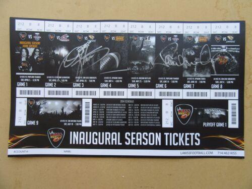 LA KISS Inaugural Season Ticket Sheet Autographed By Paul and Gene