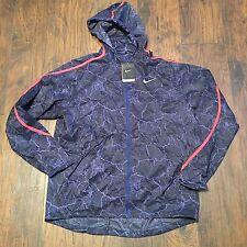 NIKE Running Windbreaker Rain Jacket Rainwear Blue/Orange XLarge NWT