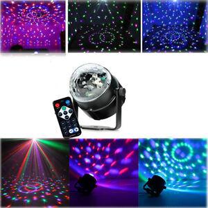 LED Stage Lighting RGB DJ Disco Party Magic Ball Crystal Effect Light +IR Remote