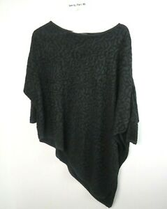 PHASE-EIGHT-ASYMETRIC-BATWING-JUMPER-BLACK-ANIMAL-PRINT-SIZE-UK-SMALL