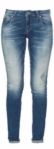 M.O.D Jeans Da Donna Scarlett SLIM nos-2001 Anca Pantaloni Low Waist SLIM LEG MOD