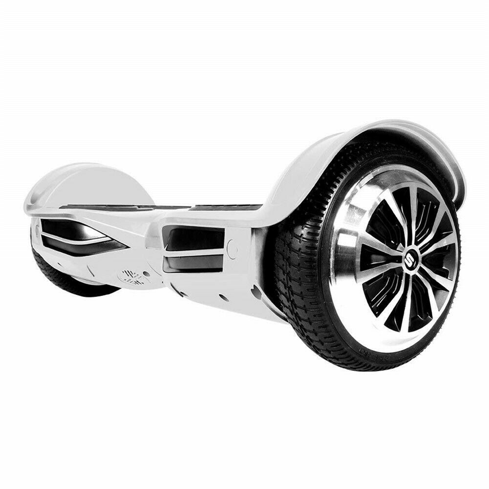 Swagtron T380 Hoverboard blueeetooth Speaker&Lights Personalize Experience (White)