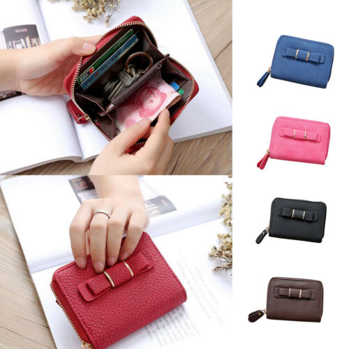Fashion Lady Womens PU-Leather Clutch Wallet Coin Card Holder Case Purse Handbag