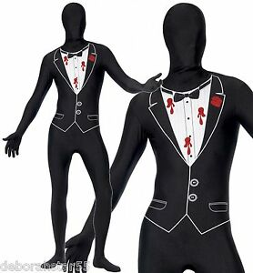 Adult Crazy Ghost Graveyard Ghoul Spirit Halloween Fancy Dress Costume M-XXL