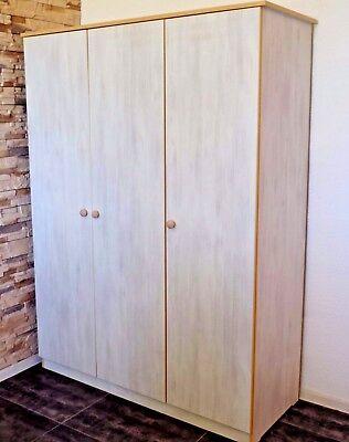 Kleiderschrank Schrank Kinderschrank  3 türiger 18mm weiß grau