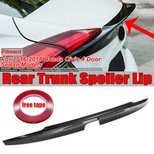 Gloss-Black-Rear-Trunk-Boot-Lip-Wing-Spoiler-for-2016-2019-Honda-Civic-Sedan-4Dr