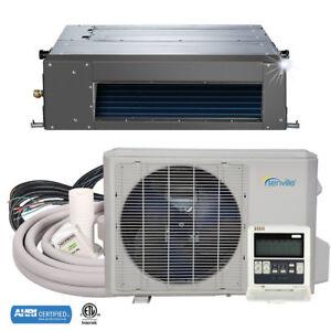 9000 BTU Concealed Duct Mini Split Air Conditioner and Heat Pump VRF