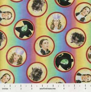 Wizard-of-Oz-Over-the-Rainbow-CAMEO-RAINBOW-STRIPES-Fabric-By-the-FQ-1-4-YD