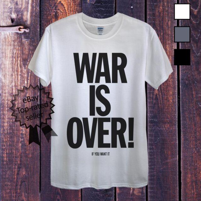 War Is Over T-Shirt Men OR Womens Fitted John Lennon Beatles Obama Putin Protest