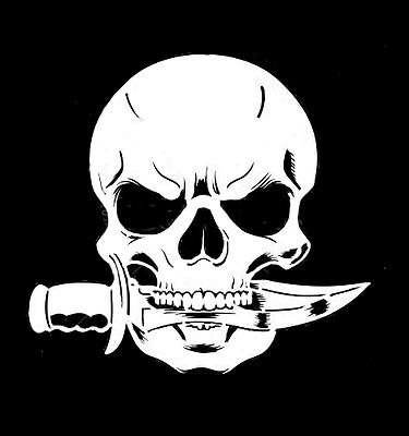 high detail airbrush stencil  skull commando  FREE UK POSTAGE