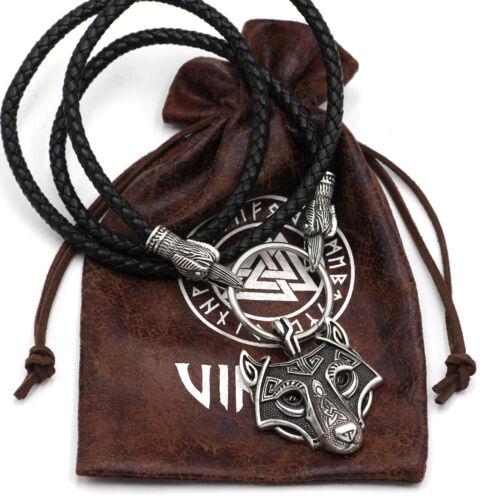 Viking Cordon corbeaux d/'Odin de Thor/'s Hammer Mjolnir scandinave Axe Loup Pendentif