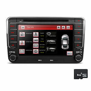 7 autoradio f r vw t5 passat golf 5 f r skoda bluetooth. Black Bedroom Furniture Sets. Home Design Ideas
