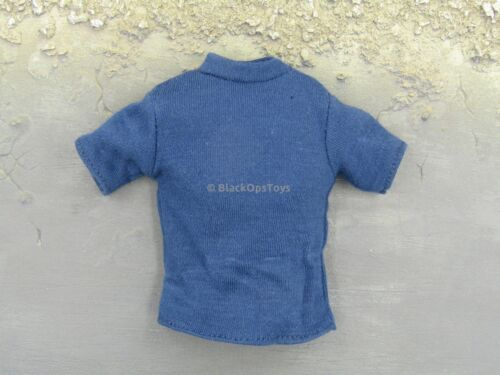 1//6 Scale TOY RARE Français pompier Law Enforcement Navy T-shirt bleu