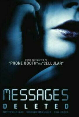 Messages Deleted DVD 2010 Matthew Lillard, Gina Holden Rare Movie Thriller