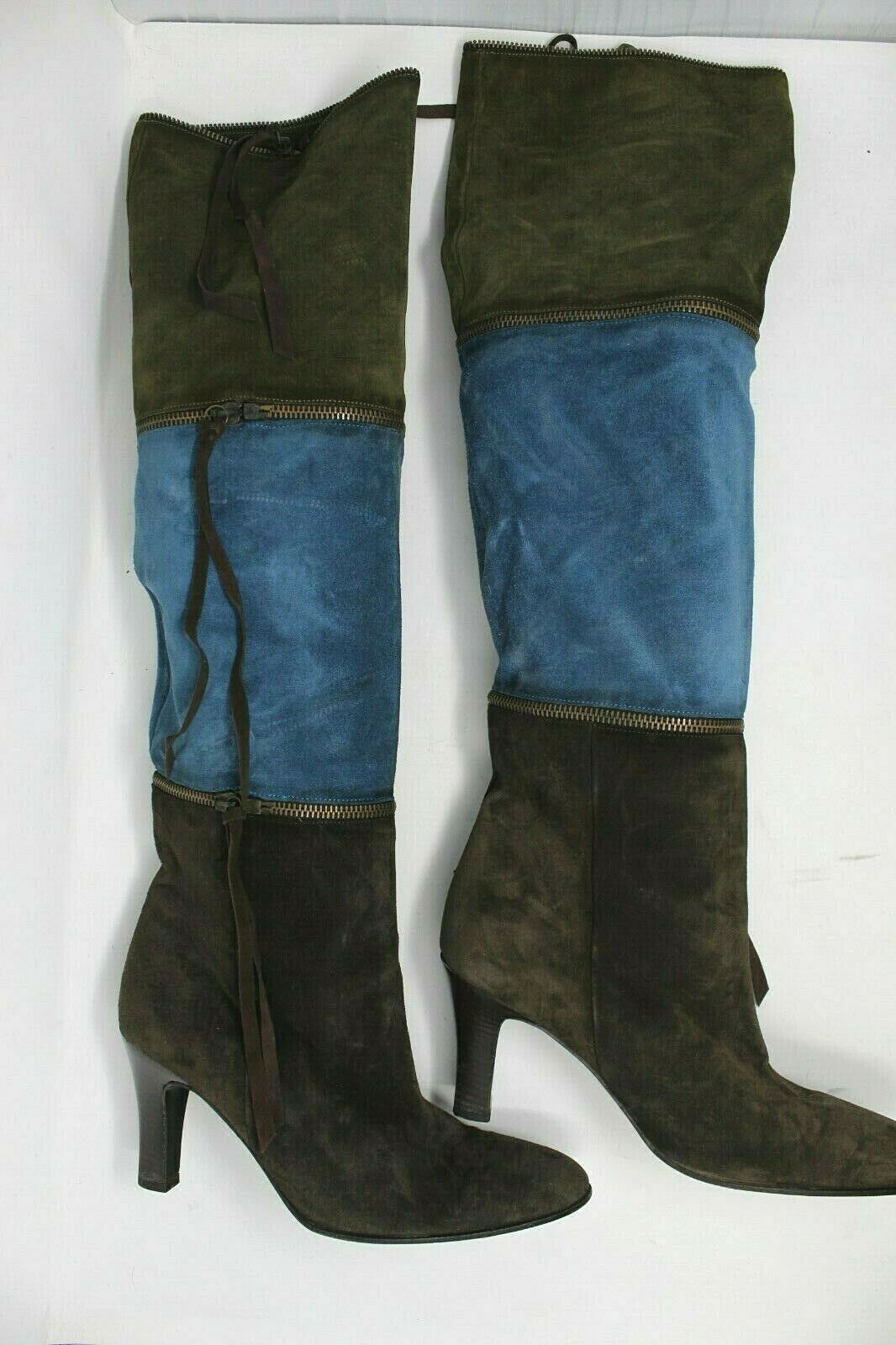 BCBGMAXAZRIA Knee High Leather 3 in 1 Multi color Boots Women's Size  9  2