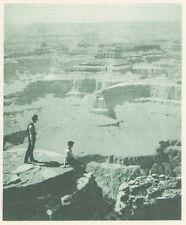 G0690 Colorado - Au bord du grand Canyon - Stampa d'epoca - 1926 old print