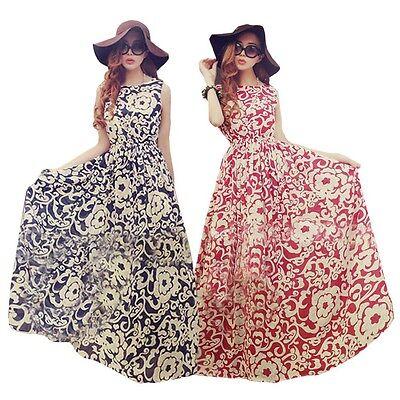 Women Summer Long Dress Evening Party Dress Beach Dresses Chiffon Dress