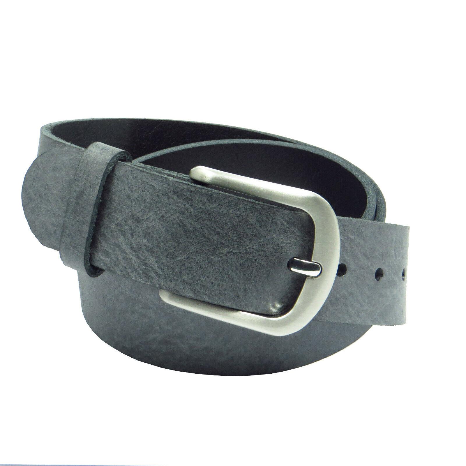 Ledergürtel 4 cm breit dunkelgrau eigener Fertigung Rindsleder Bundweite messen