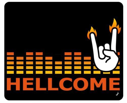 Heavy Metal #125896 Hellcome Pommesgabel Rock Gruß Mauspad Mousepad 23x19cm