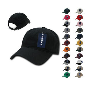 b90b0bcc DECKY Relaxed Soft Low Crown Dad Caps Hats Washed Cotton Polo ...
