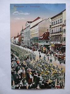 Ansichtskarte Karlsruhe i. B. Kaiserstraße um 1900 farbig Parade Umzug (Nr.573) - Eggenstein-Leopoldshafen, Deutschland - Ansichtskarte Karlsruhe i. B. Kaiserstraße um 1900 farbig Parade Umzug (Nr.573) - Eggenstein-Leopoldshafen, Deutschland