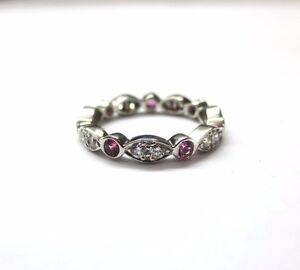 474284ac8 Tiffany & Co. Platinum Swing Jazz Ring Band with Pink Sapphires and ...