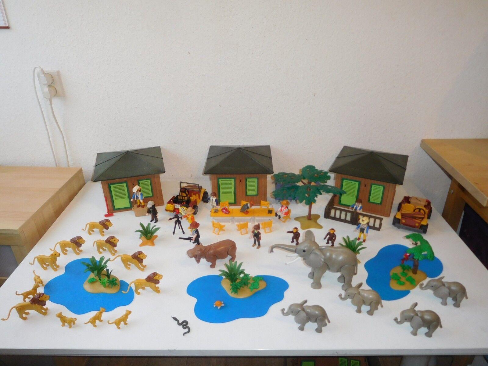 Playmobil safari XXL station africa lodge jeep like elements in 3433 4305 (2)