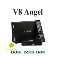 Dvb-s/s2+t/t2 Freesat V8 Angel Tv Satellite Receiver Box Android 4.4 2.4g Wifi