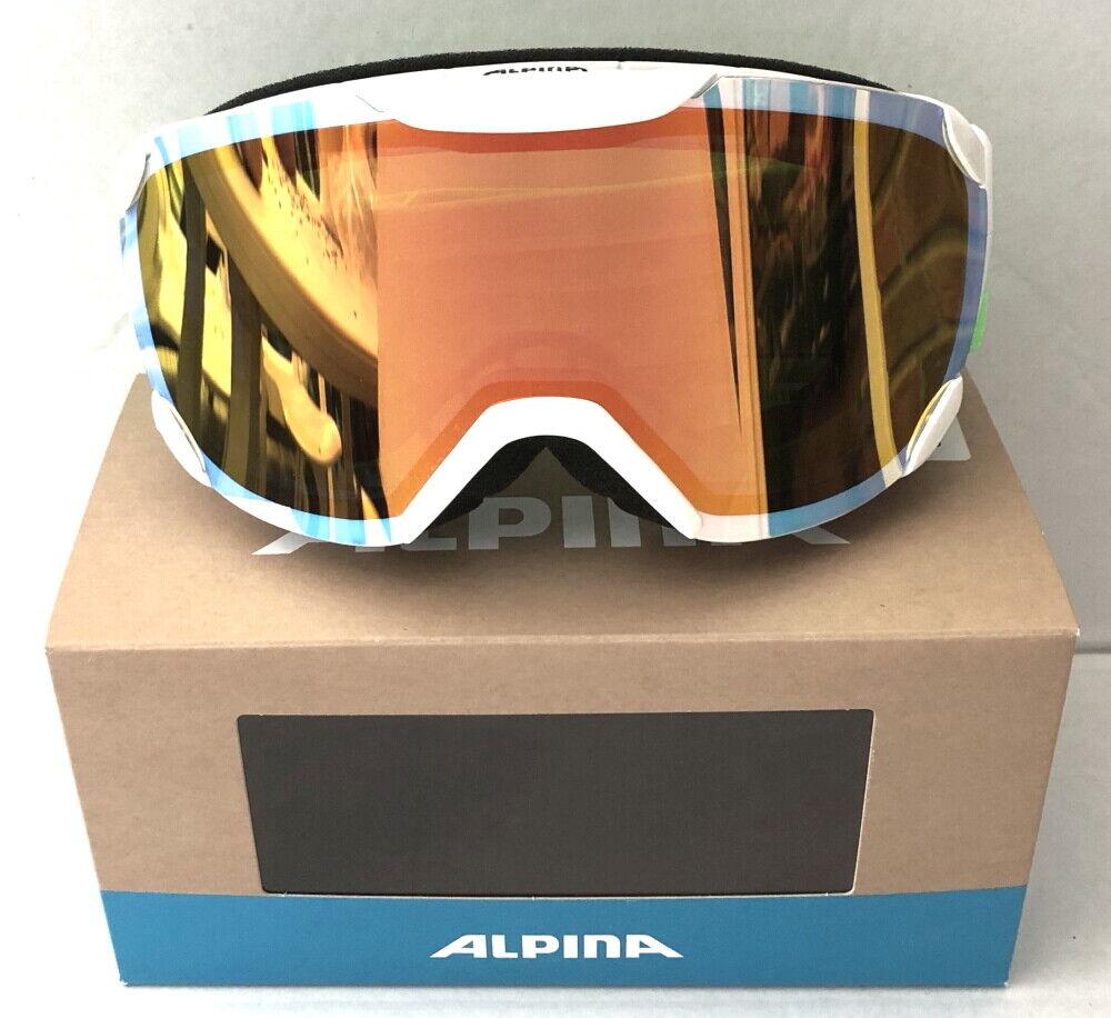 Alpina skibrille pyos S.R. verde blancoo schneiberile a7250811 mm naranja S2 M40